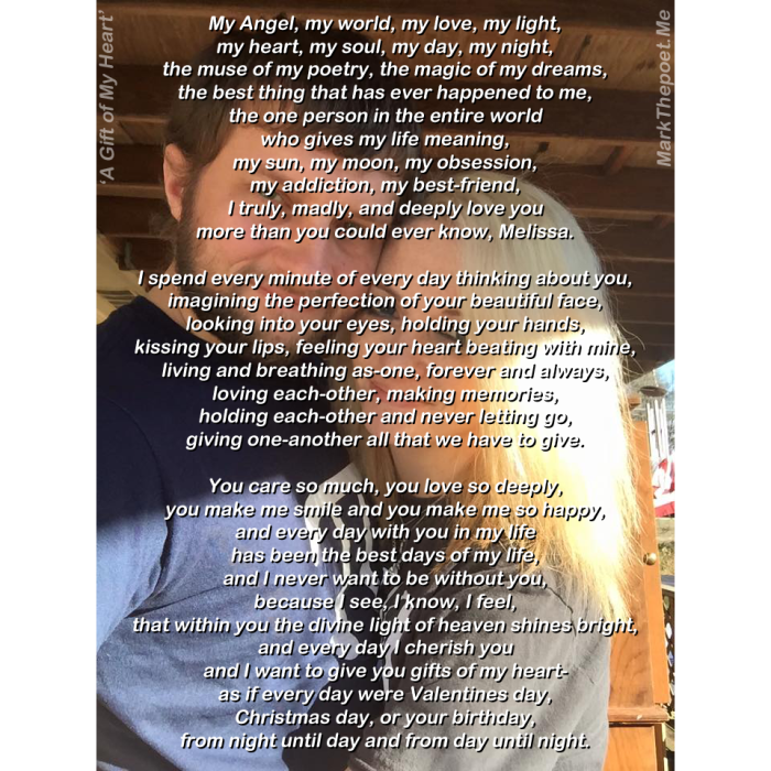 My Poem 'A Gift of My Heart'   Mark The Poet